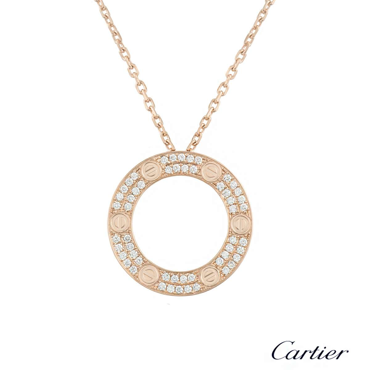 Cartier rose gold diamond love pendant b7224527 rich diamonds of cartier rose gold diamond love pendant b7224527 aloadofball Choice Image